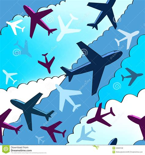 pattern plane video airplanes background seamless background pattern with