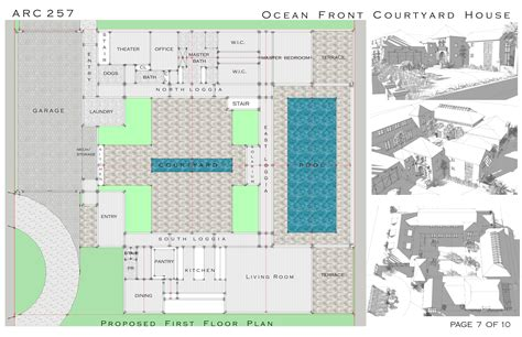 100 Courtyard Home Plans Florida Home Baby Nursery   100 house plans with pool in center courtyard baby