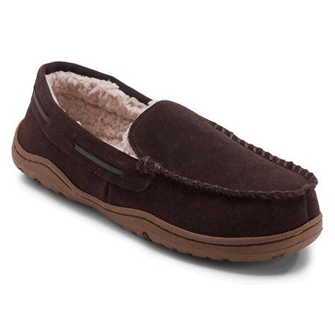 mens slippers loafers genuine suede loafer slipper s slippers rockport 174