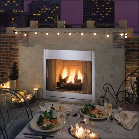 Exterior Gas Fireplace by Artistic Design Nyc Fireplaces And Outdoor Kitchens