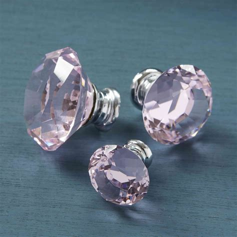 crystal drawer handles nz unique home accessories homeware and decor pink crystal