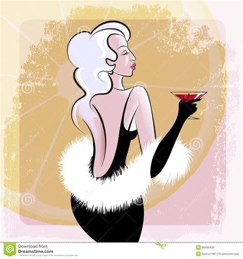 vintage cocktail party illustration cocktail party stock vector image 39495430