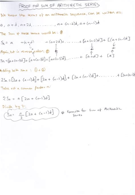 arithmetic sequence exle a level mathematics sequences and series
