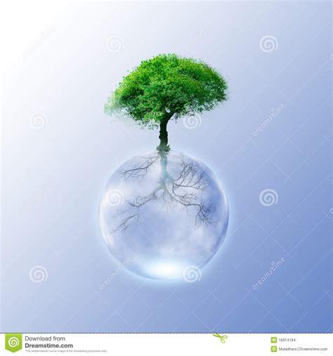 concept your design green ecology tree concept for your design cartoon vector