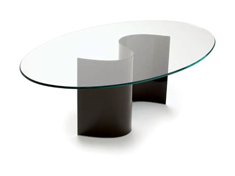 tavolo ovale cristallo tavolo ovale in cristallo live by sovet italia