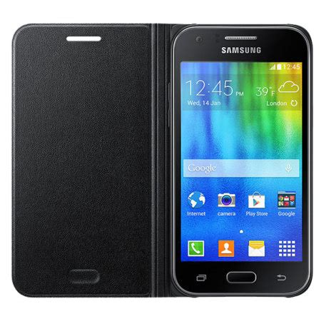 Samsung J1 2015 Flip official samsung galaxy j1 2015 flip cover black