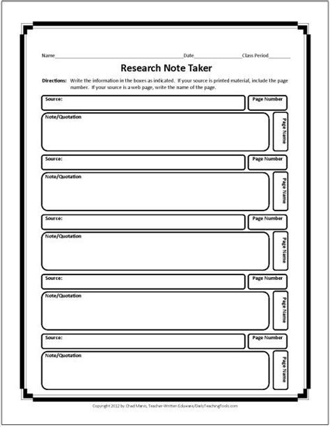 biography graphic organizer esl research note taking chart free graphic organizers for