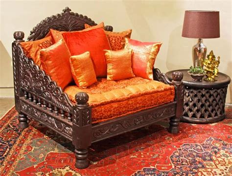 Traditional Indian Furniture Designs | jhula single seat indian hand carved furniture chair