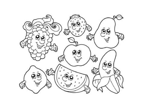 Free Fruit Coloring Pages by Get This Printable Fruit Coloring Pages 85492