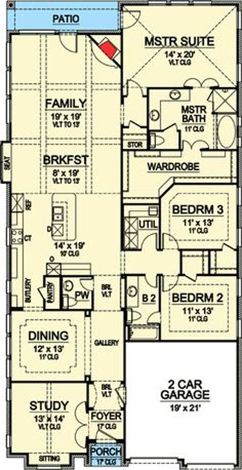narrow lot 4 bedroom house plans 1000 ideas about narrow lot house plans on pinterest
