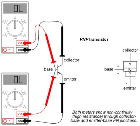diode npn meter check of a transistor bipolar junction transistors