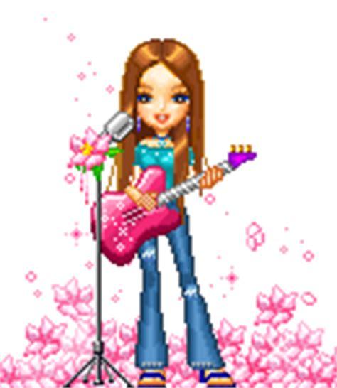 gif animales 161 qu 233 chica con guitarra electrica