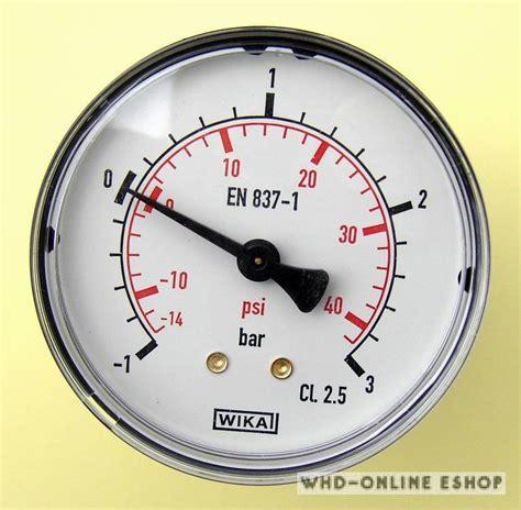 Wika Pressure Manometer 6 Inchi wika vakuum manometer 1 0 bis 3 0bar g1 4 quot 248 63mm waagerecht ebay