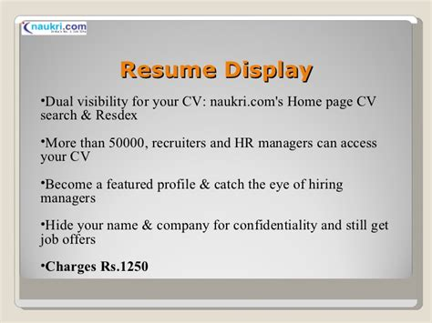 Naukri Resume Development Service by Naukri Resume Services Sanitizeuv Sle Resume