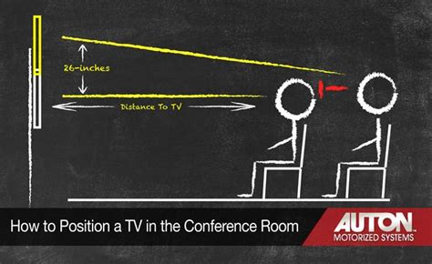 How to position your tv in a new conference room auton motorized systems