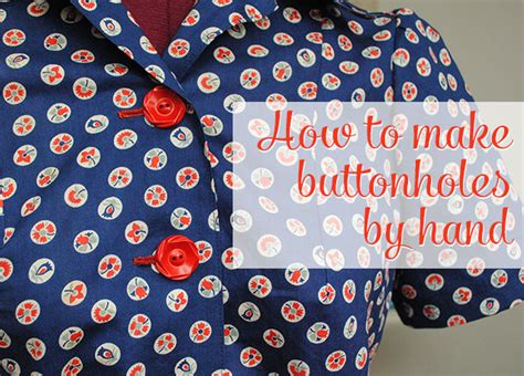 Handmade Buttonholes How To Make - buttonholes by by gum by golly