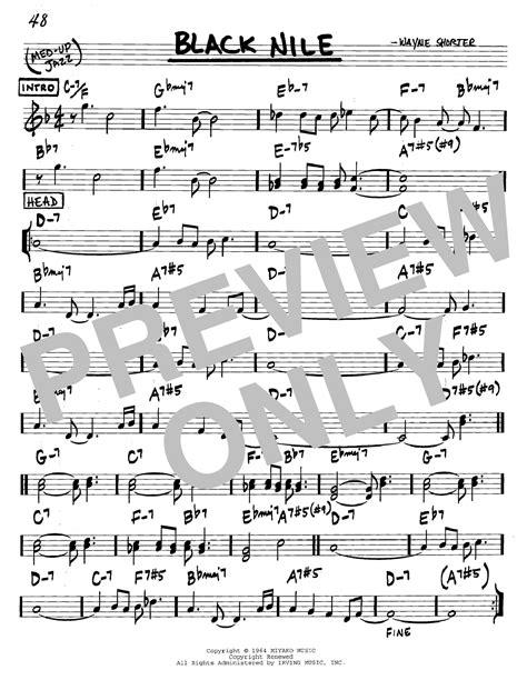 Black Nile Sheet Music | Wayne Shorter | Real Book