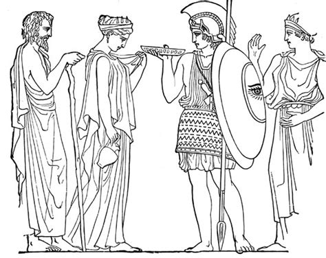 Greek Fashion Coloring Coloring Pages Ancient Greece Colouring Pages