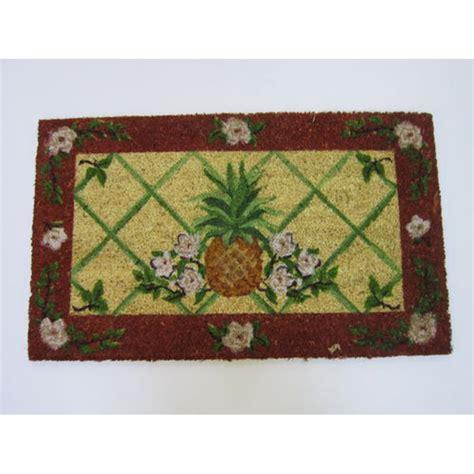Floral Doormat Floral Pineapple Doormat