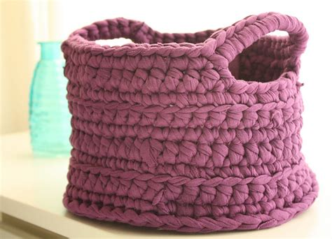 t shirt yarn basket pattern crochet in color more of your chunky baskets
