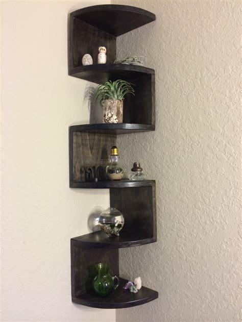 Handmade Shelf - handmade zig zag rounded front corner shelf