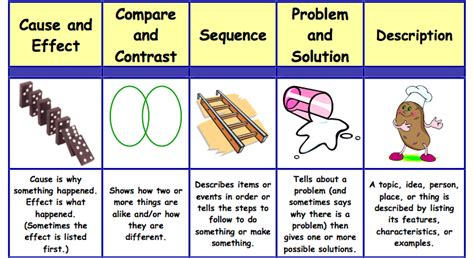 pattern of organization exercises text structures mrs alta allen s 4th grade