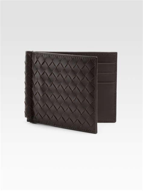 Bottega Veneta Wallet bottega veneta classic woven wallet in brown for lyst