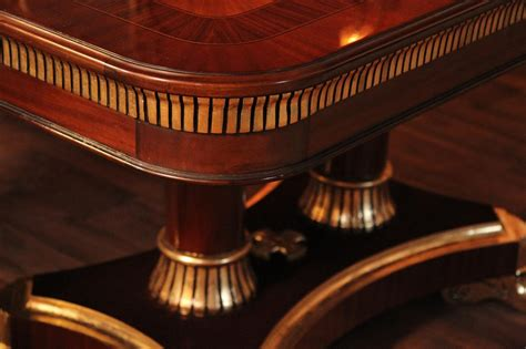 large high end mahogany dining table antique reproduction large high end mahogany dining table antique reproduction