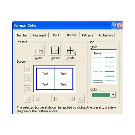 format excel cell using c how to use the border tab in microsoft excel tips for
