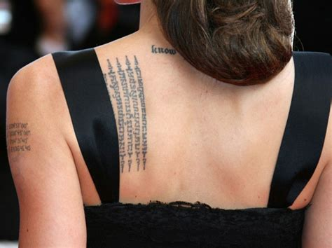 angelina jolie s tattoos birthday special 10 interesting facts about