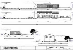 plan de coupe terrain permis de construire
