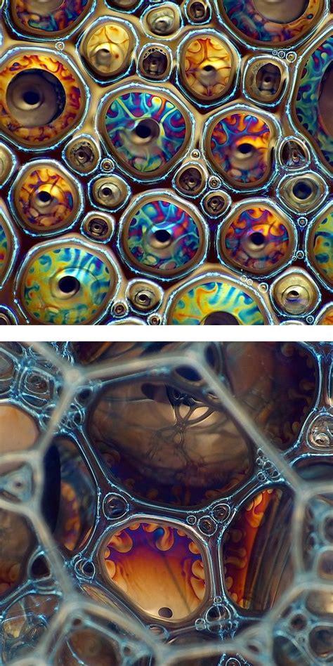 macro pattern photography colorful foam reflections explored macro photography