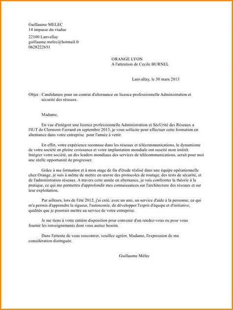 Exemple De Lettre De Motivation Licence Pro 11 Lettre Motivation Licence Lettre De Preavis