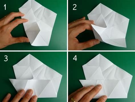 5 Step Origami - folding 5 pointed origami ornaments