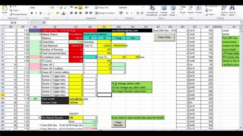 Features Of A Spreadsheet by V3 Racing Betting Bot With Results Feature Excel Auto Spreadsheet