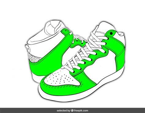 imagenes animadas de zapatillas dibujado a mano zapatillas de deporte de color verde ne 243 n