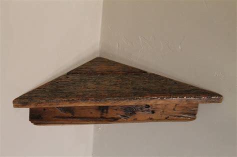 Corner Speaker Shelf by C18 18 Quot Reclaimed Barn Beam Pine Corner Shelf Antique