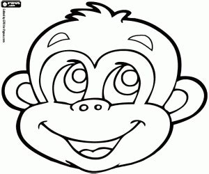 monkey mask coloring page animal masks coloring pages printable games