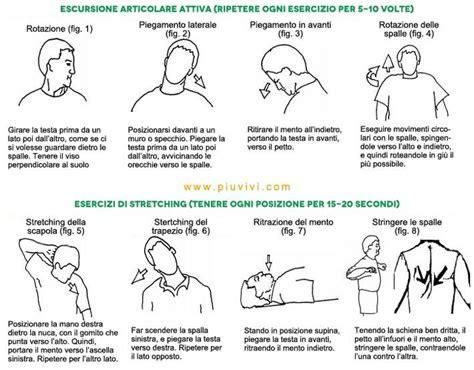 mal di testa al risveglio cause esercizi per rilassare collo e spalle http www piuvivi