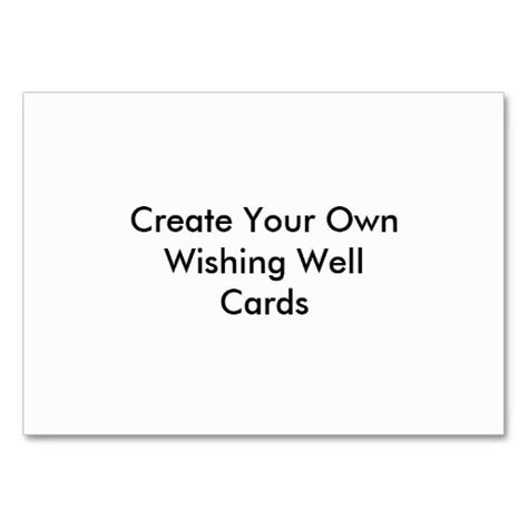 ad print your own business cards template create your own wishing well cards