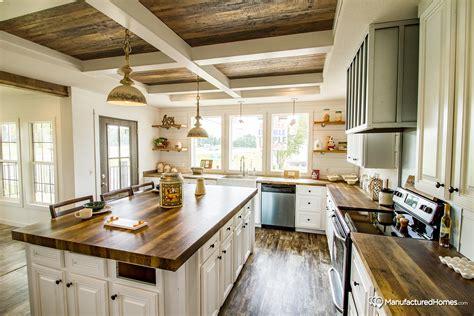 Farmhouse Island Kitchen Manufactured Homes Home