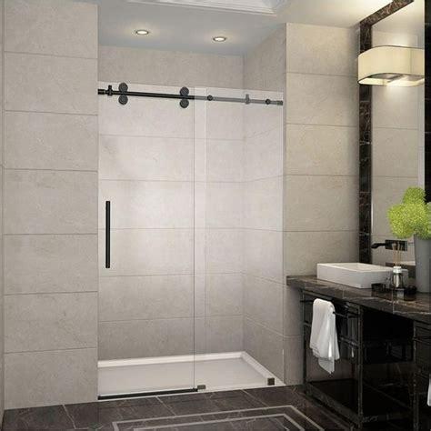 rubbed bronze shower door frame 25 best ideas about frameless sliding shower doors on