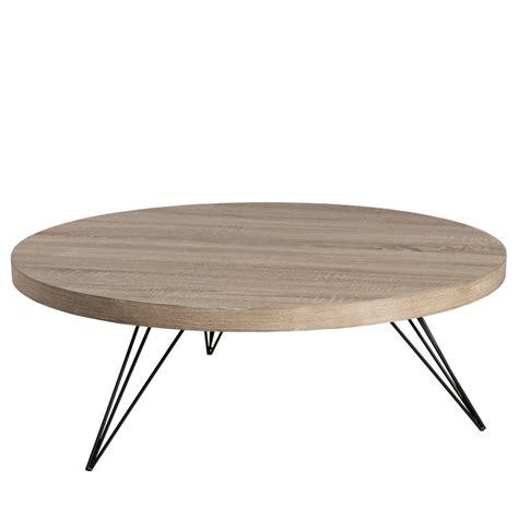 table ronde chene table basse ronde ch 234 ne gris 233 liana univers du salon