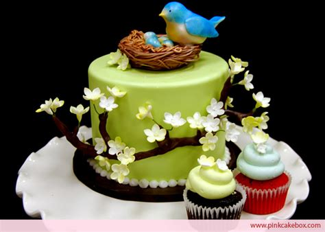 Bird Baby Shower Cakes by Blossom Bird S Nest Topper Cake 187 Custom Baby Shower Cakes