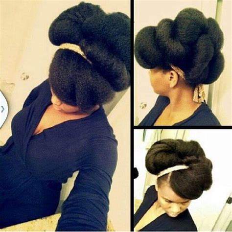 tuck in hairstyles gorgeous tuck and roll natural updo black hair information