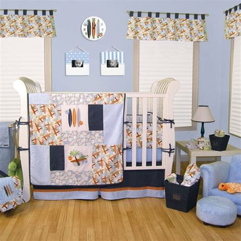Surfboard Crib Bedding Surfboard Crib Bedding Surfing Baby Rooms Surf S Up Crib Bedding Blue Grey And Orange