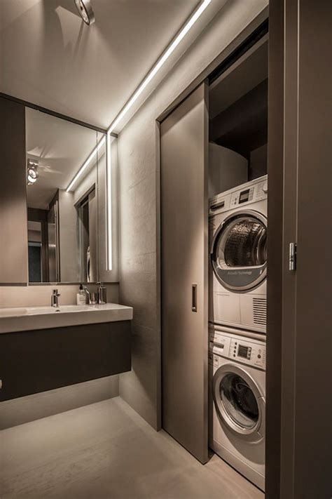 hidden laundry home and home owners on pinterest wasmachine en droger in kleine badkamer badkamers