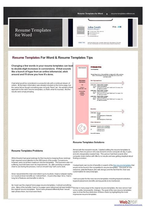 Best Resume Templates To Download For Word Best Resume Templates Word