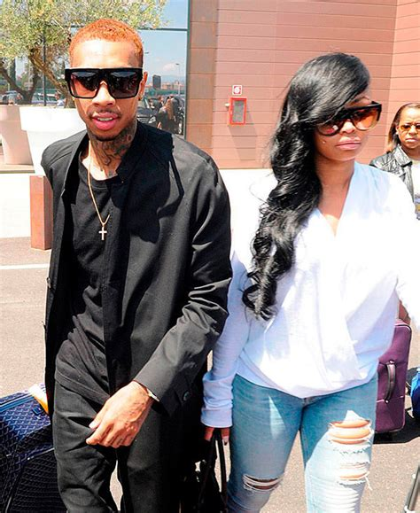 tyga leaning on blac chyna he wants to mend bridges