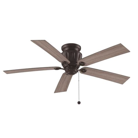 black flush mount ceiling fan shop fanimation studio collection ash 48 in black iron